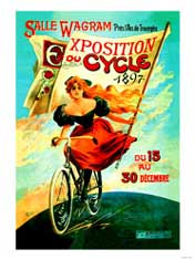 1897 Exposition Cycle Vintage Bicycle Poster