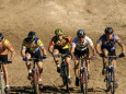 Group of People Riding Bicycles in a Race