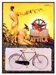 Cicli Attila vintage bicycle poster