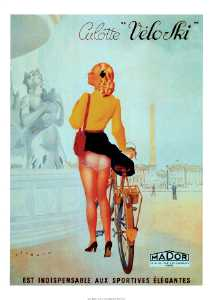 Culotte Veloski Vintage Bicycle Poster