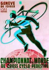 Cyclocross vintage event poster