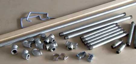 Materials for building a DIY bicycle repair stand