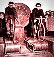 Early days of the  Bicycle Roller Trainer.