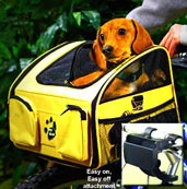 Soft bicycle dog carrier