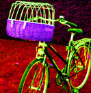 wicker basket hard bicycle dog carrier