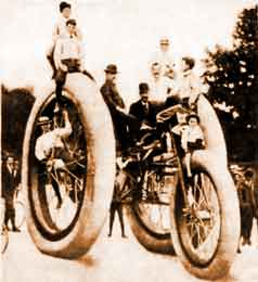 Giant Eight-Man Tricycle Publicity Stunt