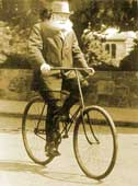 John Boyd Dunlop riding a bicycle