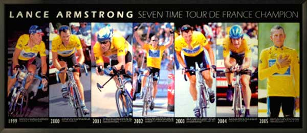 Lance Armstrong Bicycle Print