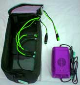 Bicycle safety lights lead acid charger