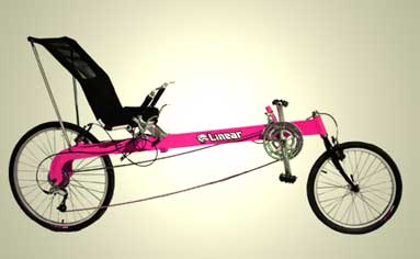 Recumbent Bicycle on Linear Lwb Recumbent Bicycle