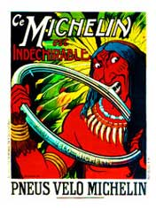 Michelin Tire Co. Indian vintage bicycle poster