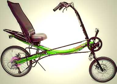 Over Seat Steering  Recumbent Bicycles