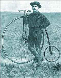 Thomas Stevens and his Penny Farthing