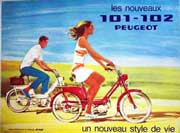 Couple touring on Peugot Bicycles