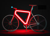 Pulse bicycle frame safety lights