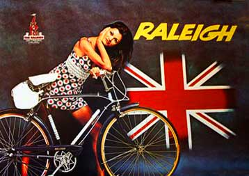 1972 Raleigh vintage bicycle poster