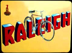 Raleigh 3 Speed Bicycle Poster