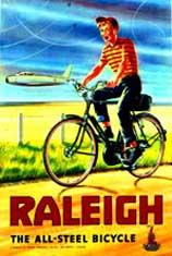 Raleigh All Steel Vintage Bicycle Poster