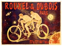 Rouxel and Dubois Tandem Bicycle Poster