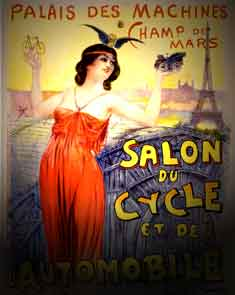 Salon du Cycle et de Automobile Bicycle Poster