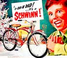Schwinn vintage bicycle poster