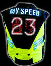 Speed vest with  bicycle safety lights