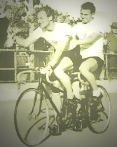 Russell Mockridge and Lionel Cox Tandem Bicycle Olympic Gold Helsinki