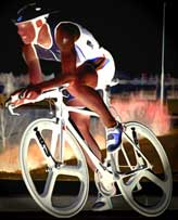 Triathlete competing in a bike race