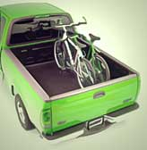 Truck-bed bike rack