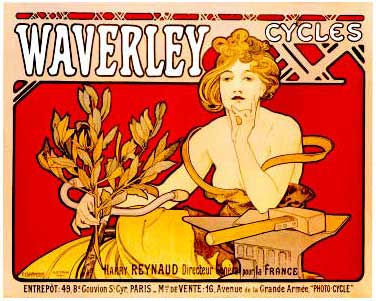 Waverly Cycles vintage bicycle poster