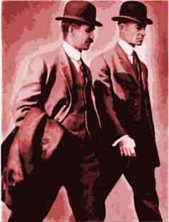 Wright brothers Orville and Wilbur